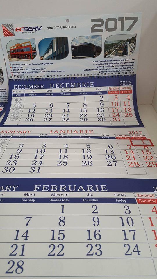 calendar personalizat brand personal