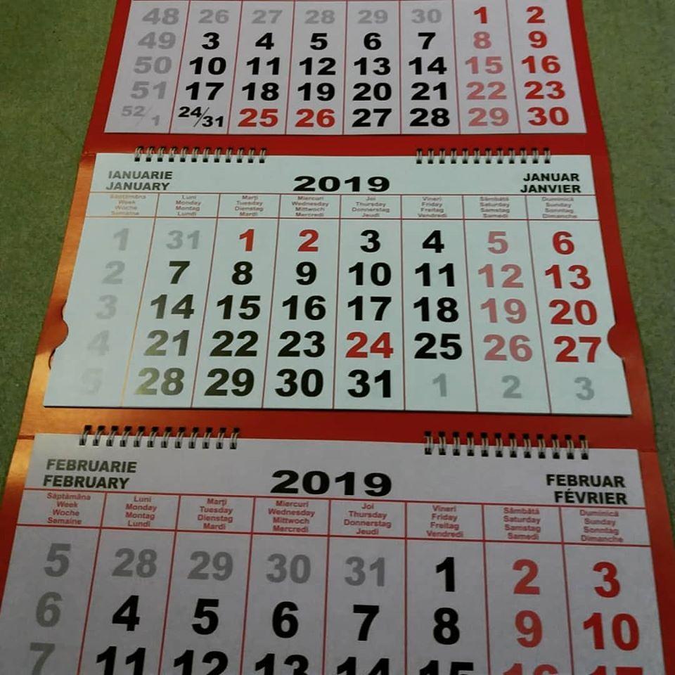 calendar standart 2020 personalizat